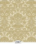 Wallpaper - Annabelle Reverse Damask Brown Cafe Latte