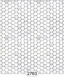 Wallpaper - Carrara Marble Hexagon Tile - White