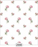Wallpaper - Cottage Chic - Floral Toss on White
