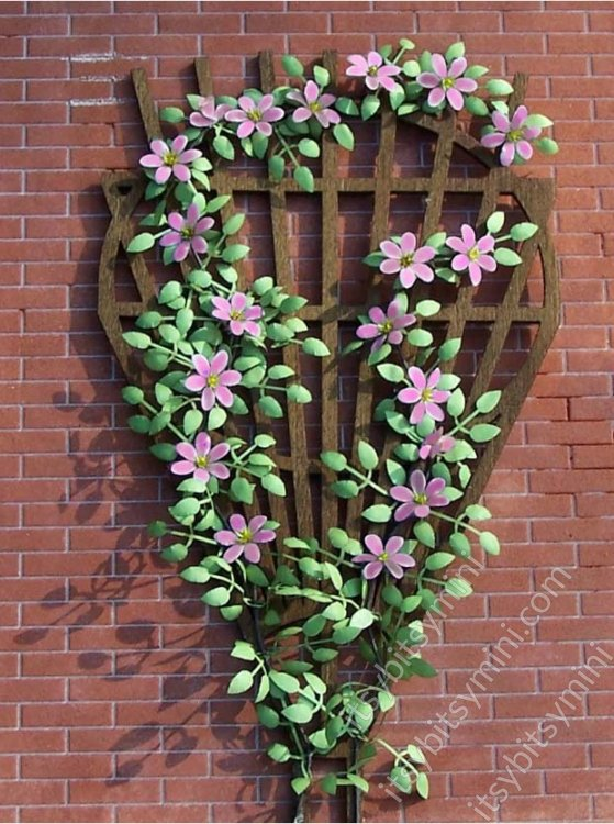 Flower Kit Clematis Pink - Click Image to Close