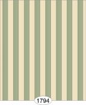 Wallpaper - Empress Thin Stripe - Green