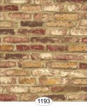 Wallpaper - Tumbled Brick - Red