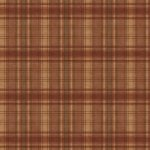 Wallpaper - Cabin Plaid - Brown with Green