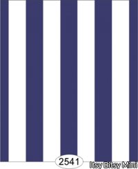 Wallpaper - Blue White Stripe Thick