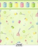 Wallpaper Sew Perfect Notions Green