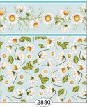 Wallpaper - Daisy Blue on Blue Border Toss