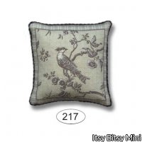 Pillow - Bird Toile - Black
