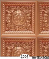 Rosette Panel Paper Copper Light