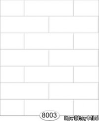 Wallpaper - Subway Tile - White - Large