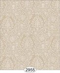 Wallpaper Birch Damask Brown Beige