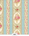 Wallpaper - Parisian Floral Stripe