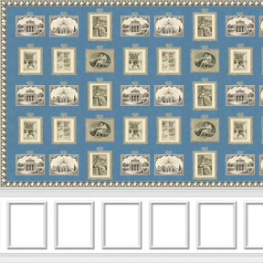Print Room with Border and Wainscot - Square