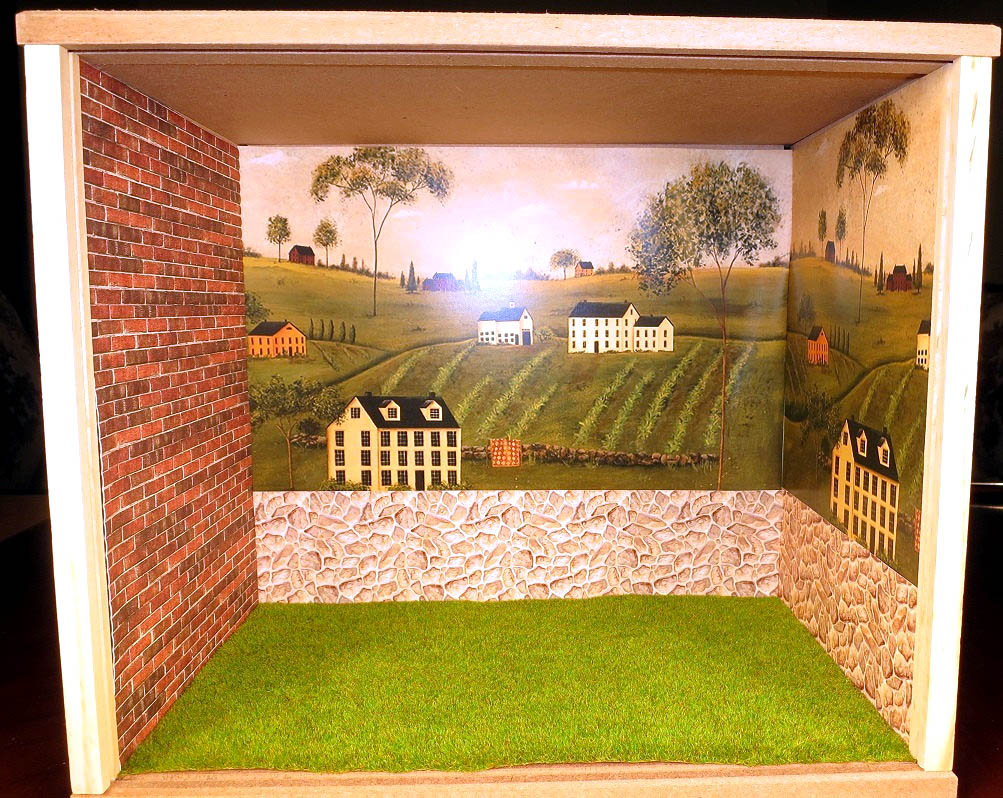 Colonial Landscape Roombox by Joel