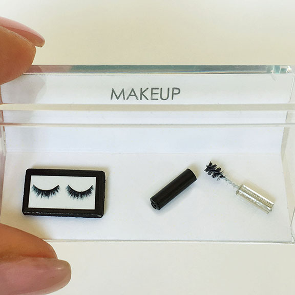 Dollhouse Miniature Makeup Cosmetic Lashes and Mascara