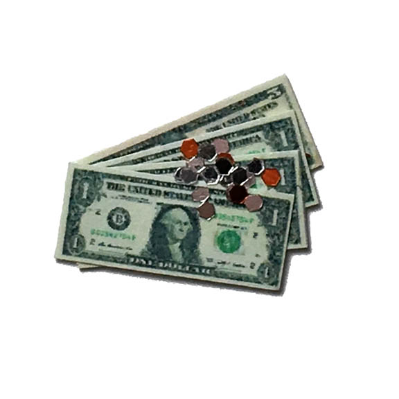Dollhouse Miniature Money Currency Kit - United States