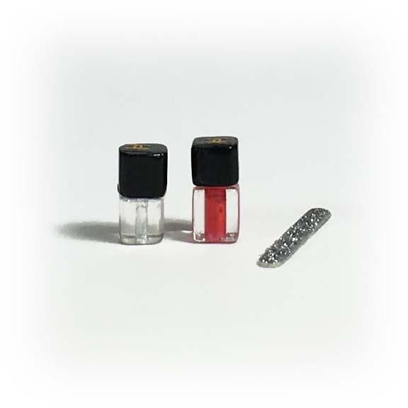 Dollhouse Miniature Nail Polish & Nail File Set