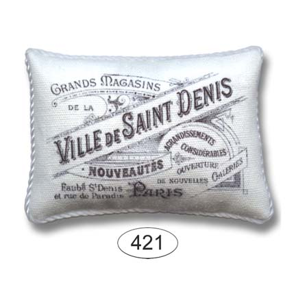 Pillow - Shabby Chic - White - Ville de Saint Denis
