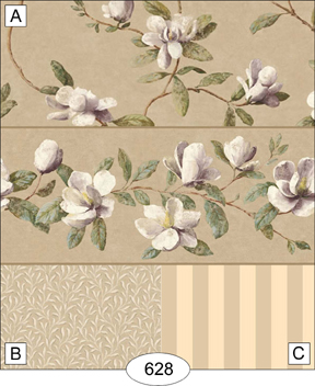 Wallpaper - Magnolia - Beige