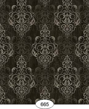 Wallpaper - Distressed Damask - Black