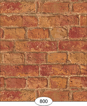 Wallpaper - Weathered Brick - Red