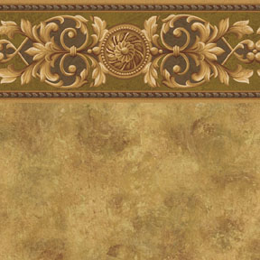 Wallpaper - Medallion - Olive