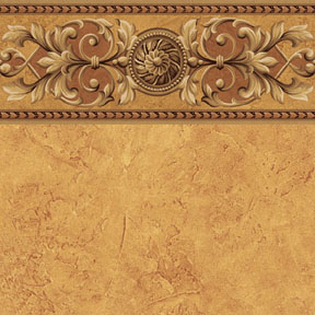 Wallpaper - Medallion - Gold