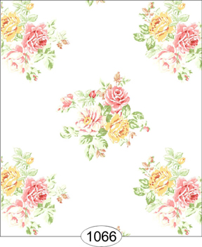 Wallpaper - Cottage Rose - Yellow