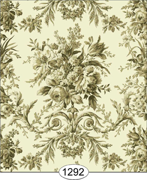 Wallpaper - Rose Tapestry - Green