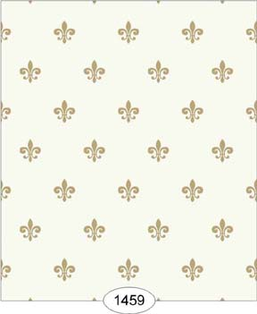 Wallpaper - Princess - Fleur de Lis - Beige on Ivory