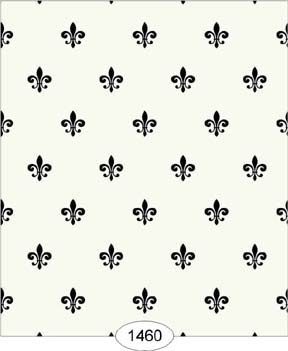 Wallpaper - Princess - Fleur de Lis - Black on Ivory