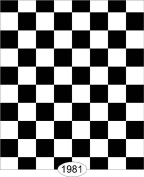 Wallpaper - Tile - Black and White Check - 0.25 inch