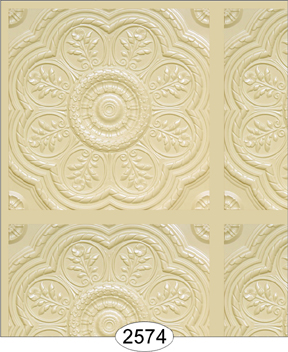 Medallion Panel Paper Cream