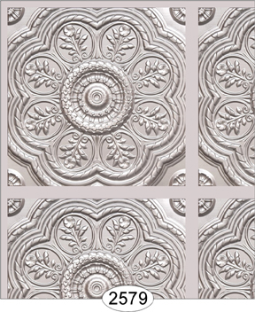 Medallion Panel Paper Silver