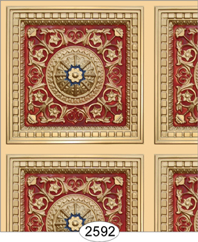 Rosette Panel Paper Gold Red and Blue