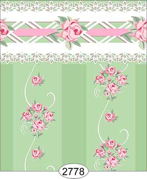 Wallpaper - Daniella Floral Stripe - Green