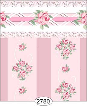 Wallpaper - Daniella Floral Stripe - Pink