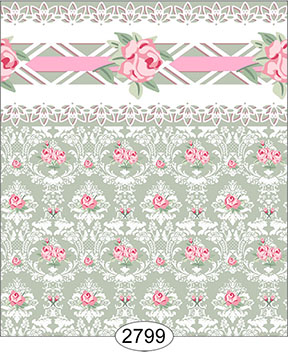 Wallpaper - Daniella Floral Damask - Olive
