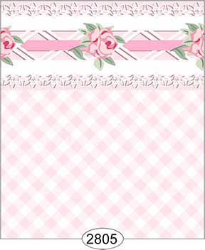 Wallpaper - Daniella Plaid - Pink