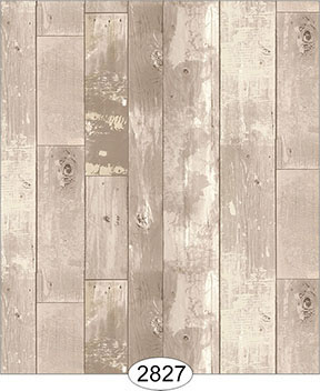 Wallpaper - Reclaimed Wood Floor - Beige