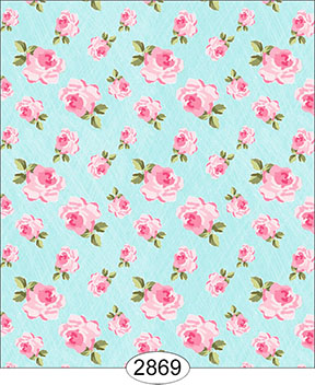 Wallpaper - Tea for Two - Floral Toss Blue
