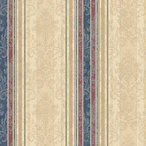 Wallpaper - Equestrian Blue - Stripe NO BORDER