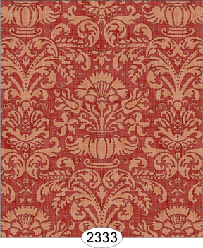 Wallpaper - Annabelle Damask Red with Cream