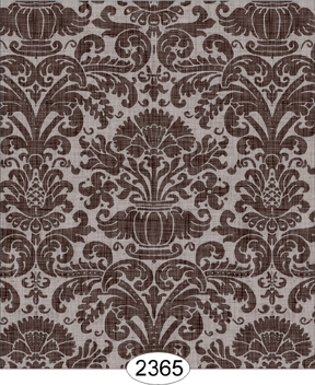 Wallpaper - Annabelle Reverse Damask Brown Chocolate