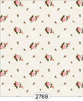 Wallpaper - Rose Crackle Cream on White