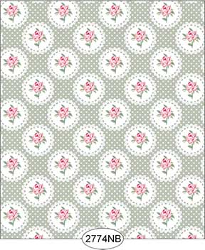Wallpaper - Daniella Doily - Olive No Border