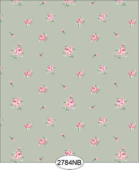 Wallpaper - Daniella Floral Toss - Olive No Border